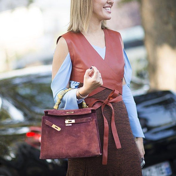 Layers ❤️ Ksenia Sobchak #PFW street style via @popsugarfashion