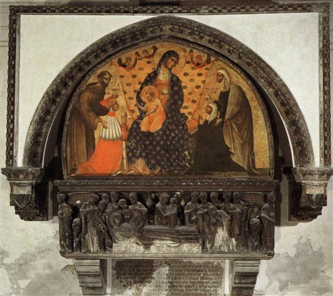 Monument to the Doge Francesco Dandolo, 1339 - Paolo Veneziano