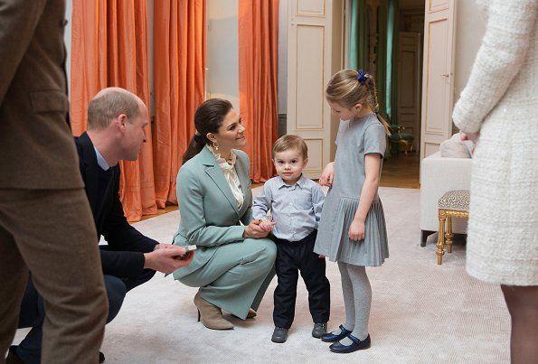 The Duke and Duchess meet Princess Estelle and Prince Oscar