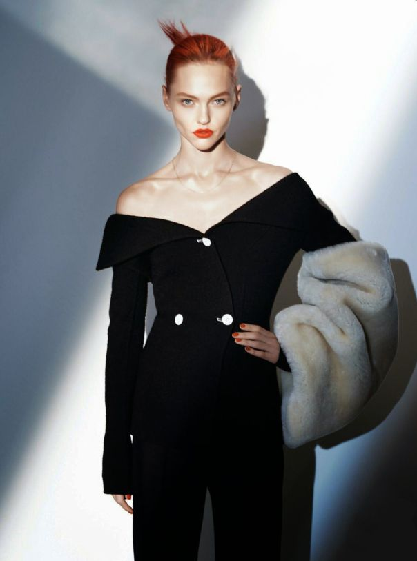 Sasha Pivovarova by David Sims for Vogue Paris August 2014
