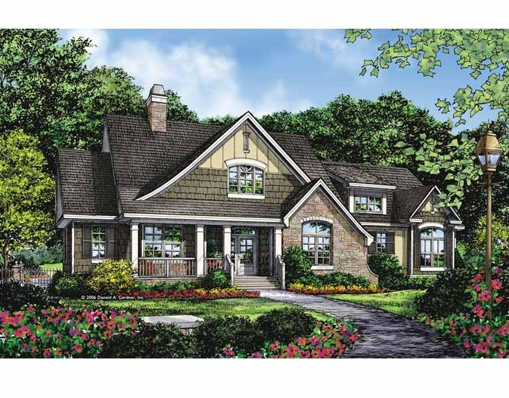 24 best house plans images on pinterest floor plans for Small craftsman house plans with garage