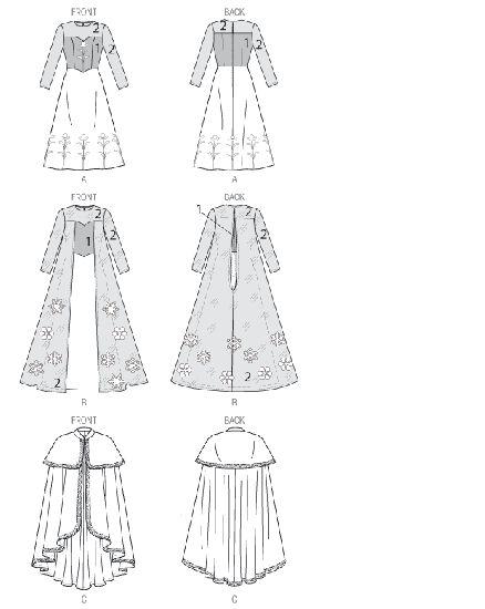 McCall's - M7000 Winter prinses | Naaipatronen.nl | zelfmaakmode patroon online