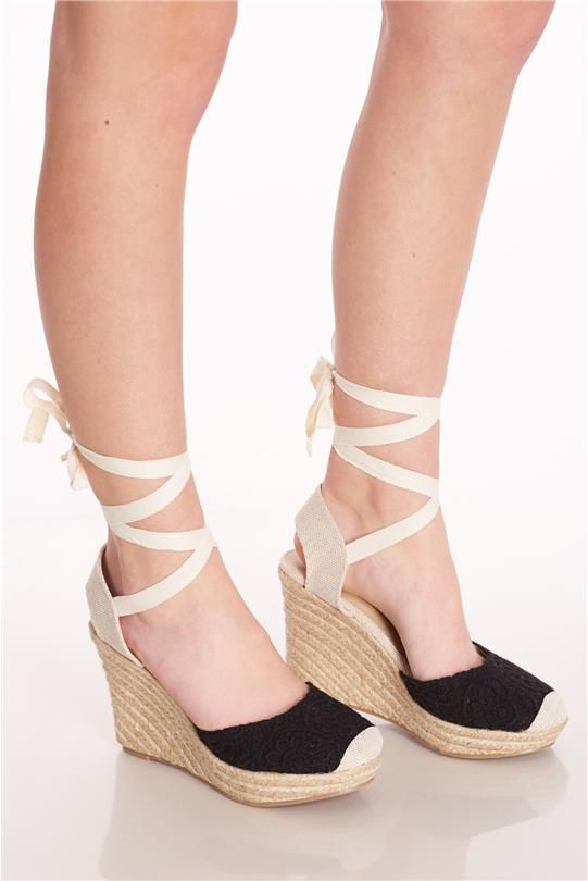 Crochet Espadrille Wedges  Discovery Clothing  1999 -3418