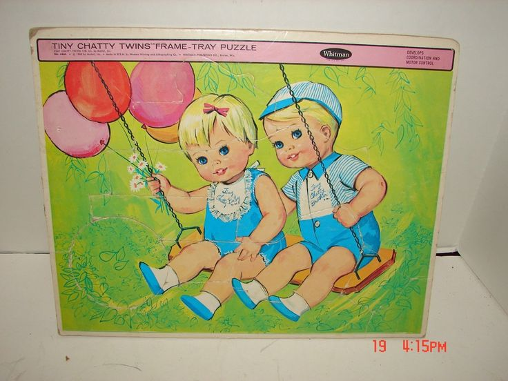 Vintage Whitman Frame Tray Toy 1963 Puzzle Jigsaw Doll Tiny Chatty Twins Mattel | eBay