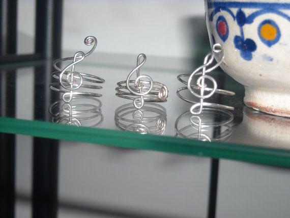 Anello ARGENTO chiave di sol gioiello argento nichel-free anello handmade in Italy regolabile musicale anello Festa Mamma!! Love ring musica