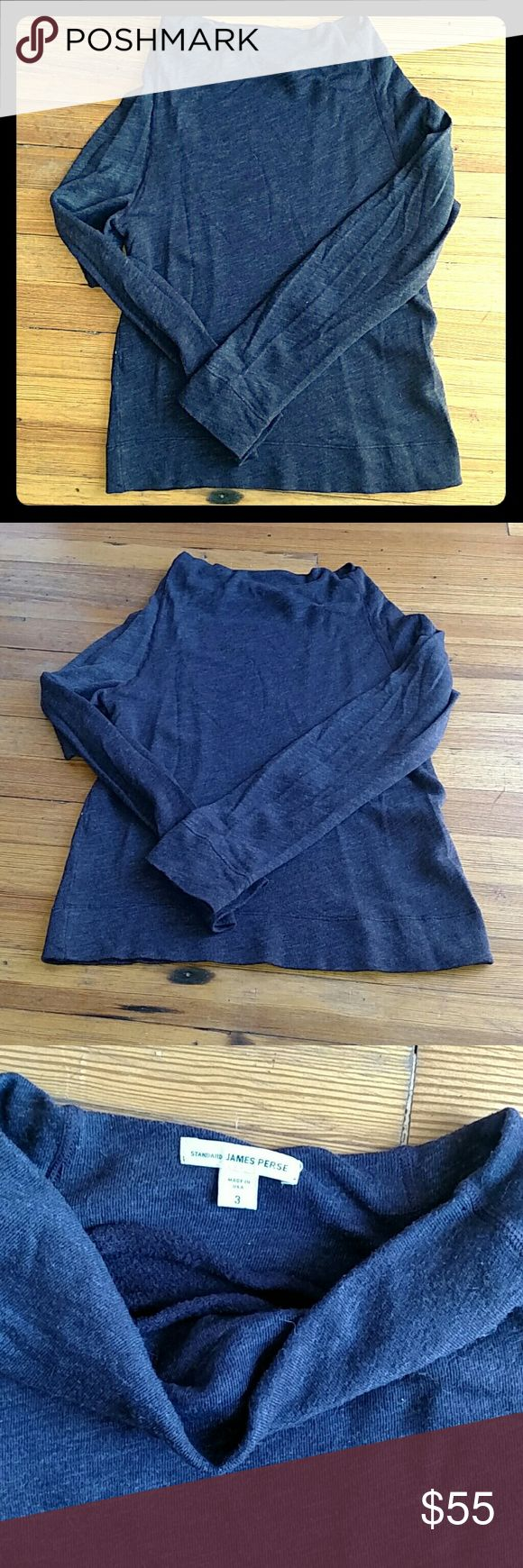 Cozy James Perse Sweatshirt Excellent condition, worn a handful of times, just a hair too small for me. Fits like a medium, James Perse size 3. Color is a deep heather plum. No signs of wear, no marks, pulls or holes. Beautiful top! James Perse Tops Sweatshirts & Hoodies