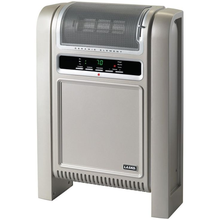 Ceramic heater effectively circulating warm air evenly throughout your entire room.