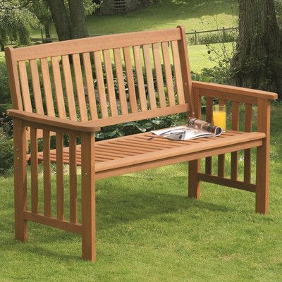 SunTime Outdoor Living Camillion Wood Garden Bench U0026 Reviews | Wayfair