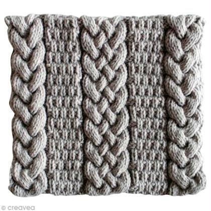 Tricoter un snood femme : torsades et point granité