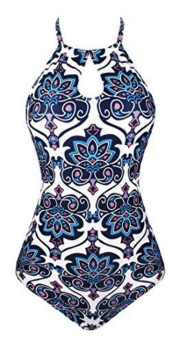 0a6b7c85e2309 New Angerella Women s Retro Vintage High Neck Bathing Suit Monokini Halter One  Piece Swimsuit online. Find the perfect Elesol Swimsuit from top store.