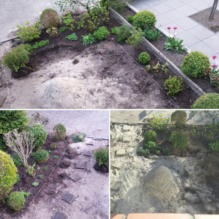 Voortuin tuin in de goede vorm afgraven en zand storten for Tuin verbouwen