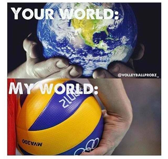 Volleyball is my world❤