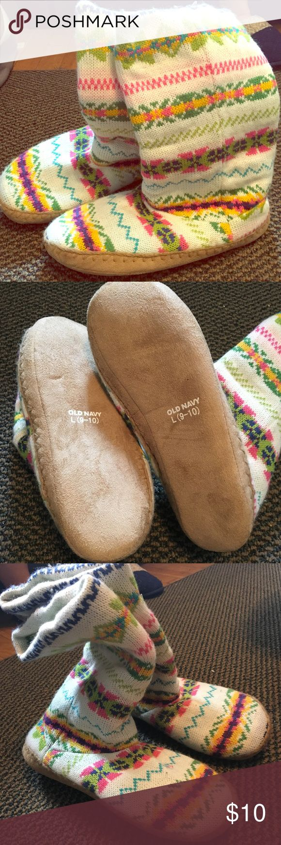 Slipper Boats Perfect for a cozy night in. Never Worn. Fun Bright Design! Old Navy Shoes Slippers