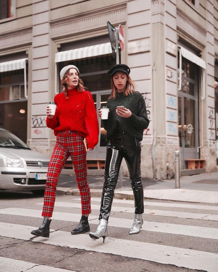 style / street style / fashion / plaid pants / metallic booties / trending / current