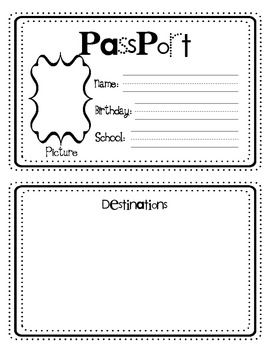 Around The World Crafts: Passports  Free Passport Template For Kids