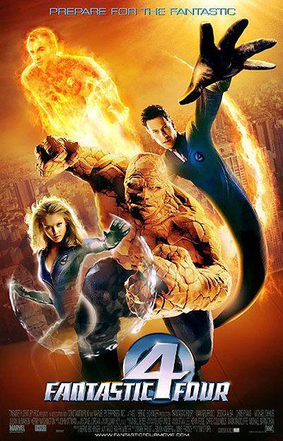 Fantastic 4 (2005) Jessica Alba, Chris Evans, Ioan Gruffudd, Michael Chiklis and Julian McMahon