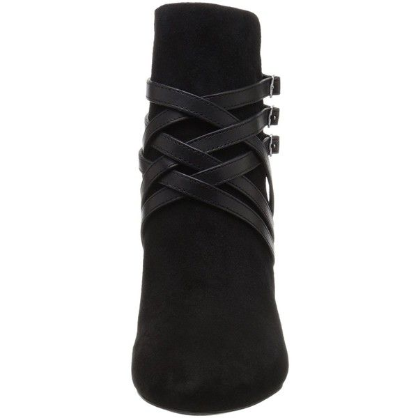 Lauren Ralph Lauren Women's Vanna Boot (705 EGP) ❤ liked on Polyvore featuring shoes, boots, wide width shoes, shootie shoes, ankle bootie boots, wide fit shoes and bootie boots