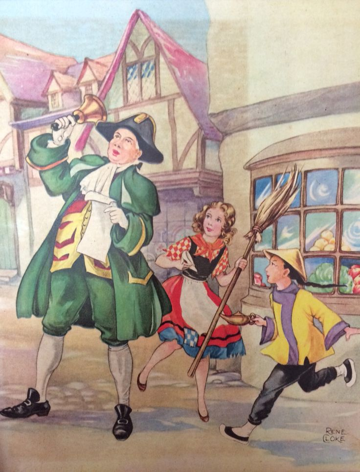 """From """"Little Boy Blue Nursery Rhymes and Fairy Tales"""" illustrated by Rene Cloke c1955"""