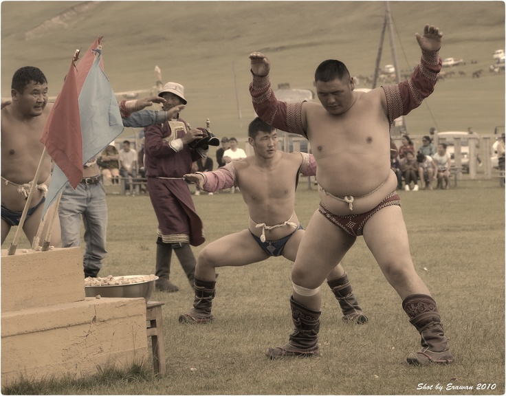 Naadam in a village, traditional wrestling, Mongolia by Erawan BrokenTale