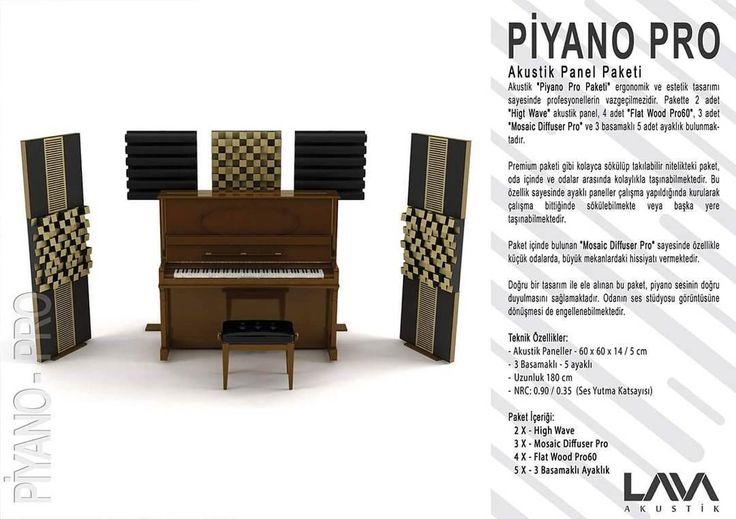 Piyano Pro Akustik Panel Paketi www.muzikenstrumani.com #lavaakustik #lava #akustik #acoustic #acustic #panel #music
