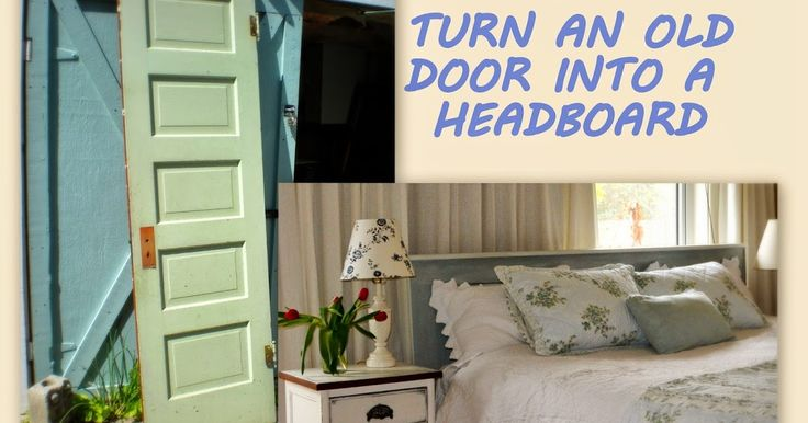 These old door headboards have been popping up all over the internet and blogosphere for quite a while.  I've been wanting one so bad...