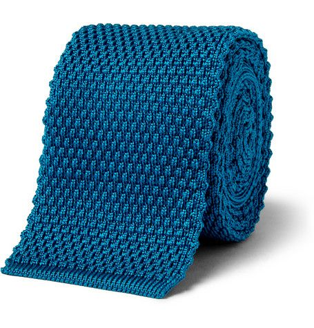 Simple Brioni Knitted Silk Tie