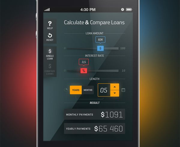 Calculate Amp Compare Loans By Mikael Westman Via Behance