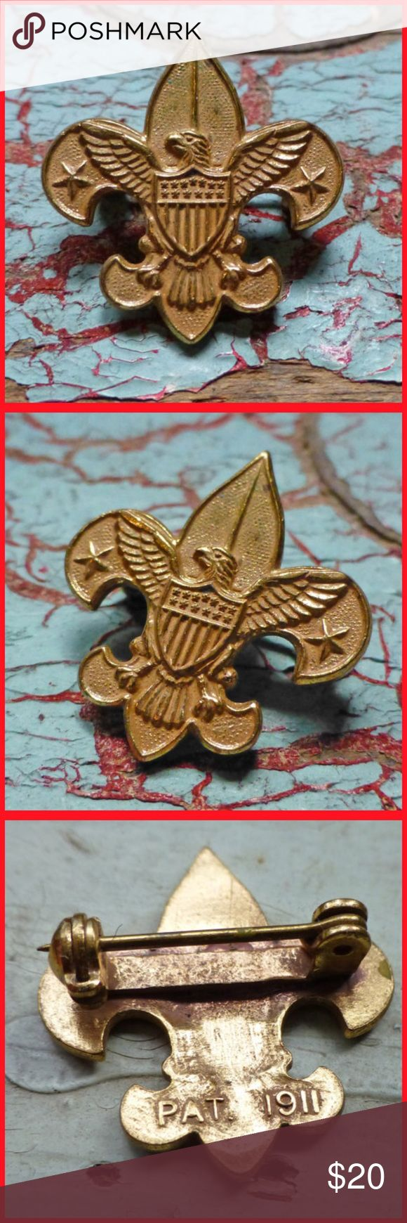 Spotted while shopping on Poshmark: Boy Scout Tenderfoot Badge Pin PAT 1911 on back! #poshmark #fashion #shopping #style #Vintage #Other