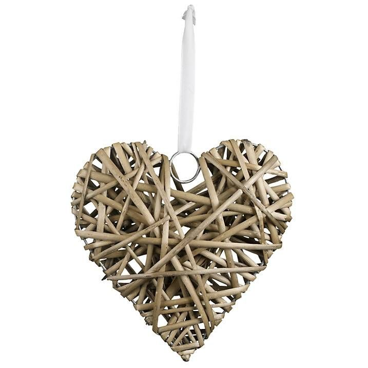 For Hire: Willow Hanging Hearts. £3 each (18 available). Height 20cm. http://www.rosetintmywedding.co.uk/#!for-hire/c14d8