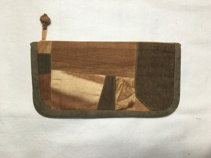 persimmon dyeing wallet (Coin Purse) by sanchaeg on Etsy