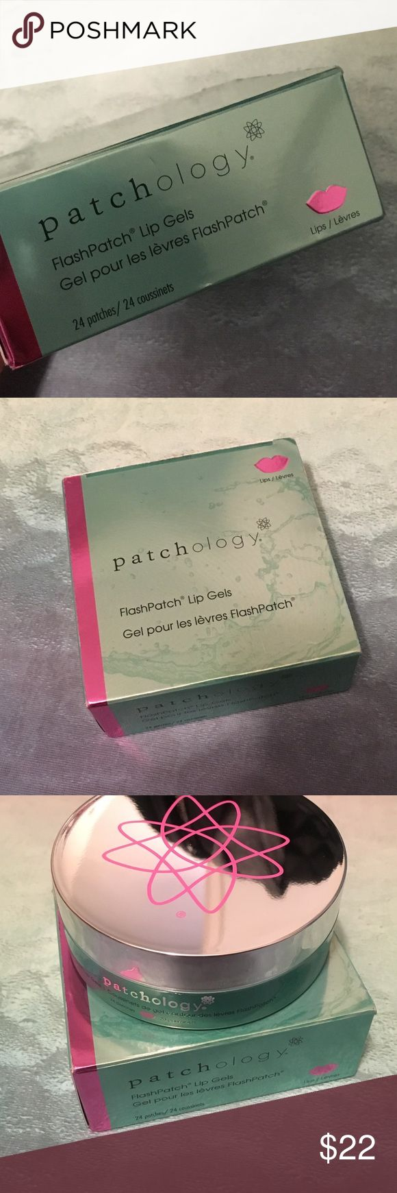 Patchology FlashPatch Lip Gels Lip Mask New in box. Soften, smooth and diminish the appearance of vertical lip lines in just five minutes with FlashPatch Lip Gels by patchology. The lip gels feature hydrogel patch technology, which provides deep hydration and lip revitalization in a way that topical lip treatments cannot. They stay put, too, to ensure you get the ingredients where you need them most. The result is softer, smoother and more youthful-looking lips. Includes 24 patches…