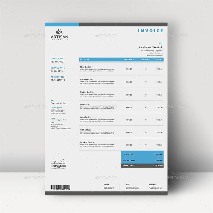 Send An Invoice Through Paypal Word  Best Letterheadsignature Images On Pinterest  Letterhead  Cloud Based Invoicing Word with How To Make Invoices Word Invoice By Artisanhr  Graphicriver Microsoft Templates Invoice