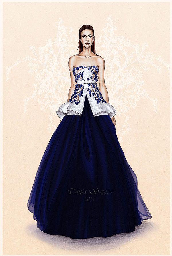 Fashion illustrations - SS2014 on Behance