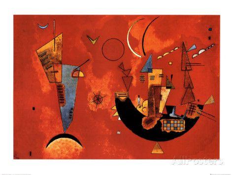 Mit und Gegen, c.1929 Print by Wassily Kandinsky - AllPosters.co.uk