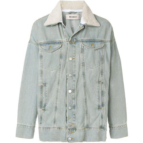 Misbhv oversized denim jacket (1 560 PLN) ❤ liked on Polyvore featuring men's fashion, men's clothing, men's outerwear, men's jackets, blue, mens blue jacket, mens blue jean jacket and mens oversized denim jacket