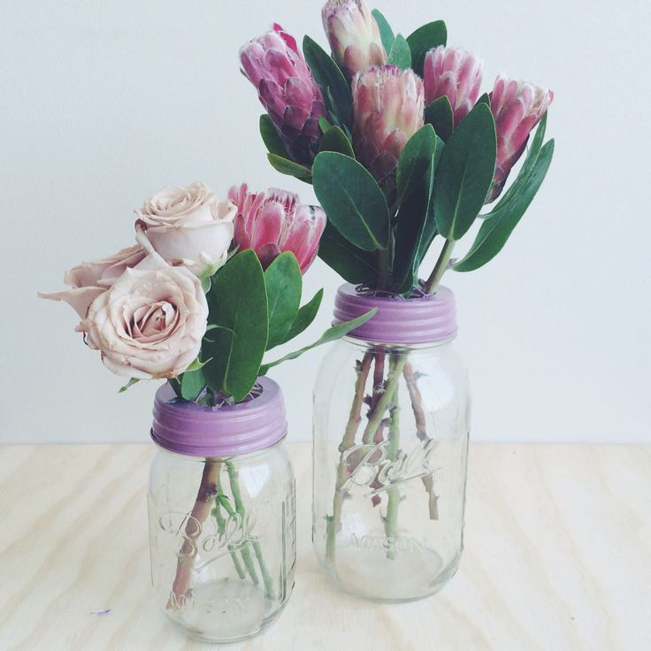Flower jars from Rainy Sunday. www.rainysunday.com.au