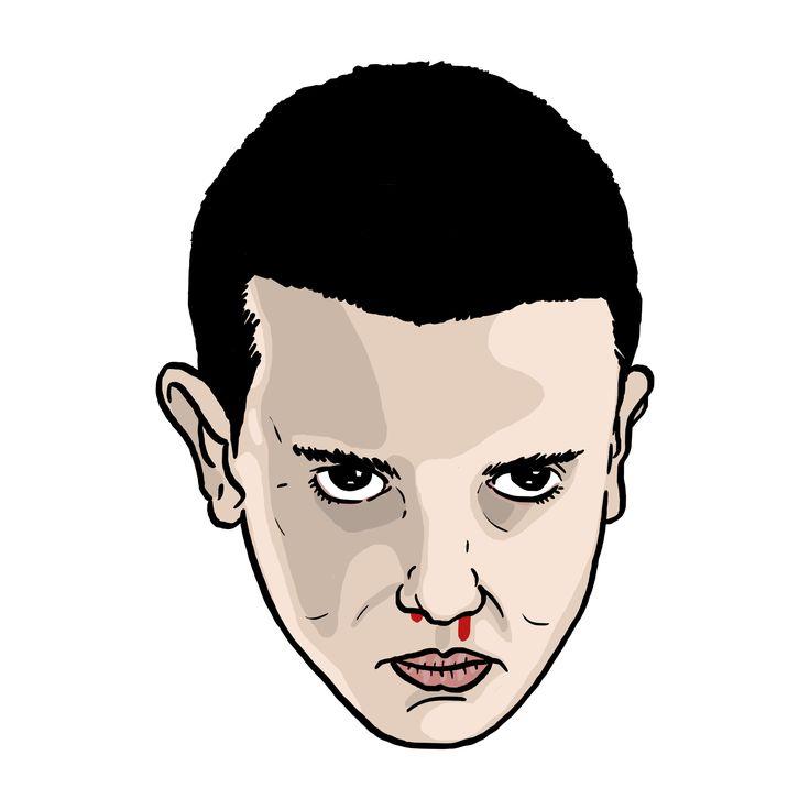 Eleven portrait illustration (stranger things)  #daleillustration