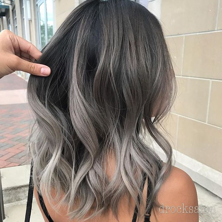 Silver Fox! Done by stylist, Nikki! Using all @wellaeducation! #balayage #hairtrends #silverhair #handpainted #haircolor #colormelt…