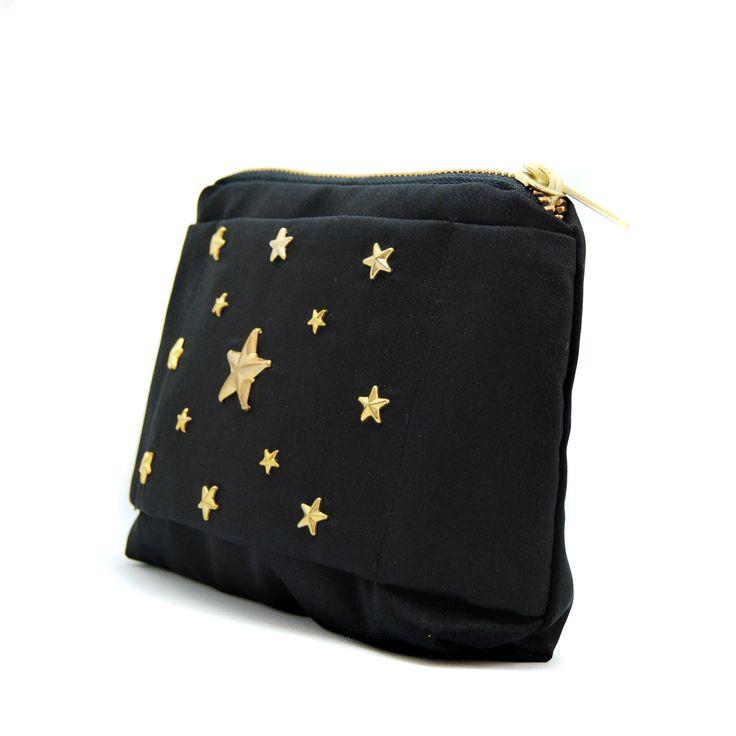 BLACK STUDS GOLD STARS
