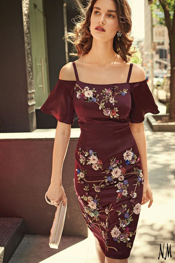 This weekend, opt for flattering florals by Nanette Lepore. Pair with open-toe platforms and a neutral clutch for an easy date night look.