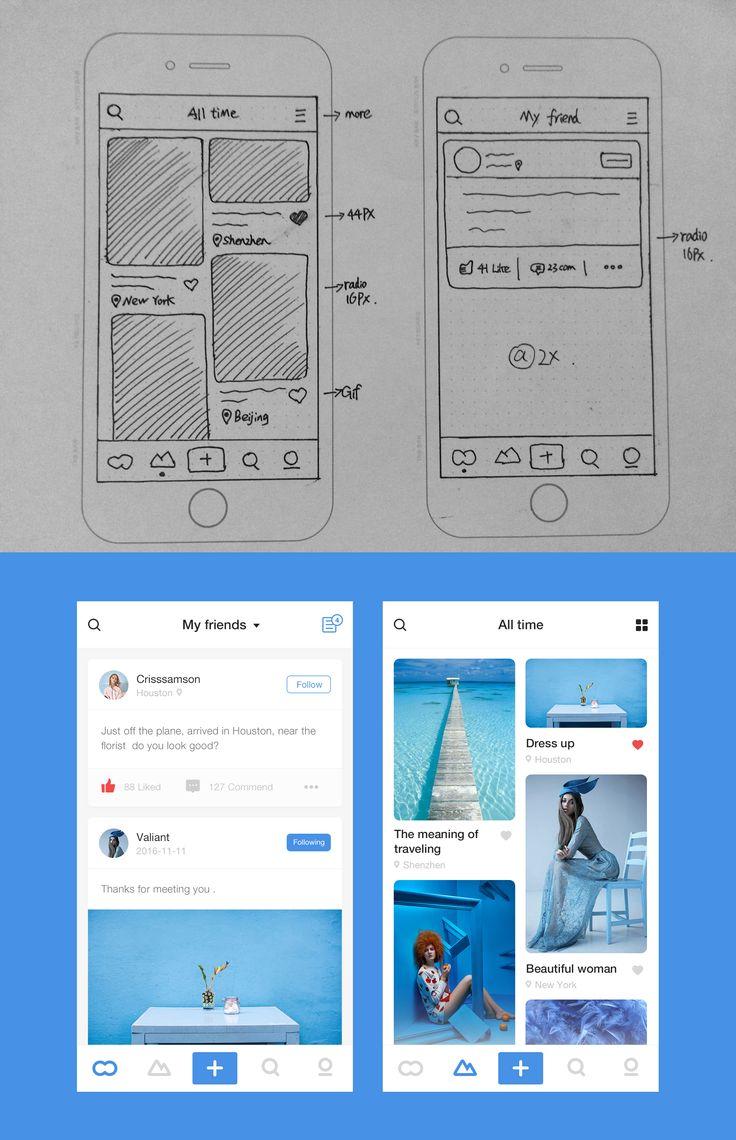 Dribbble social app ui design jpg by ramotion - 2x Application Designapp Uiui