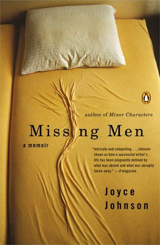 Missing Men  Author: Joyce Johnson  Publisher: Penguin (Non-Classics)  Publication Date: July 5, 2005  Genre: Biographies And Memories  Design Info:  Designer: Joe Montgomery  Photographer: Nonstock  Photographer: Andre Thijssen  Typefaces: Trade Gothic  Century
