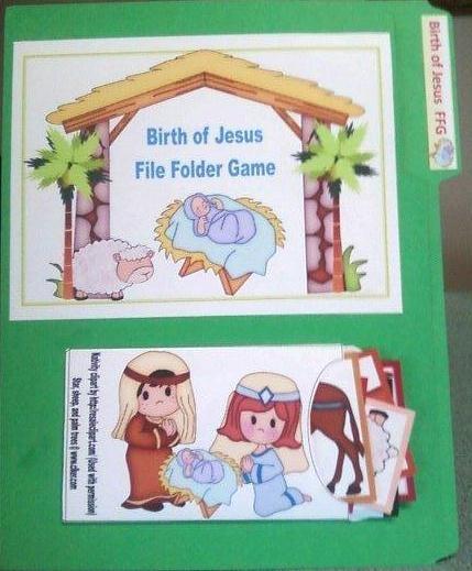 Birth of Jesus File Folder Game & More for Preschoolers