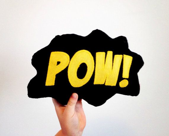 Mini Comic Bubble Superhero Pillow Decorative by VoxandDolly