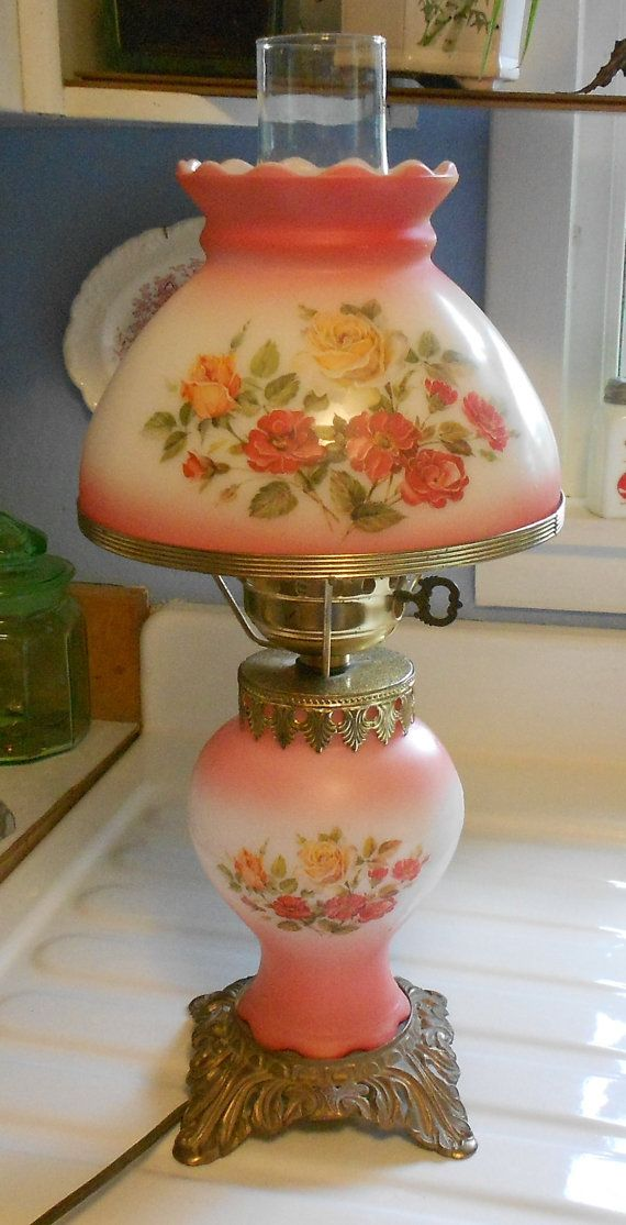 Vintage Gone With The Wind Lamp by HostaHillFarm on Etsy
