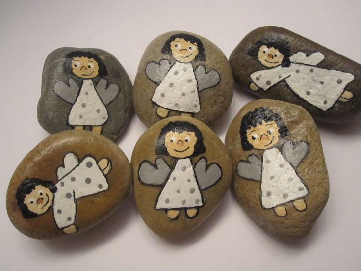 #Schutzengel, #Glücksbringer oder #Handschmeichler, egal wie man sie nennt,eine #Bastelidee, die viel Freude macht.