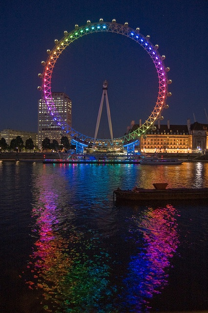 Queer eye? by Mister Rad, via Flickr, The London Eye lights up in the colours of Gay Pride Week