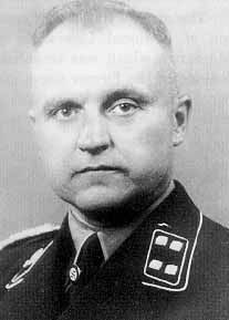 Pictured is Karl Otto Koch, the first Commandant of the Majdanek camp. Koch had previously been the Commandant of Buchenwald, but he was sent to Majdanek as punishment after he was arrested in Weimar for non-payment of taxes. In 1943, he was brought back to Weimar and put on trial by SS Judge Georg Konrad Morgen on charges of ordering the murder of two prisoners at Buchenwald and taking bribes from Jewish prisoners. He was convicted and executed by the Nazis before the end of the war.