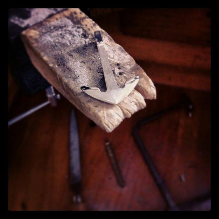Handmade silver anchor