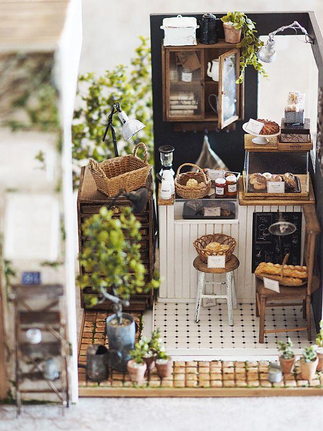 miniature* 小さなカフェが出来ました。 : natural色の生活~handmade家具